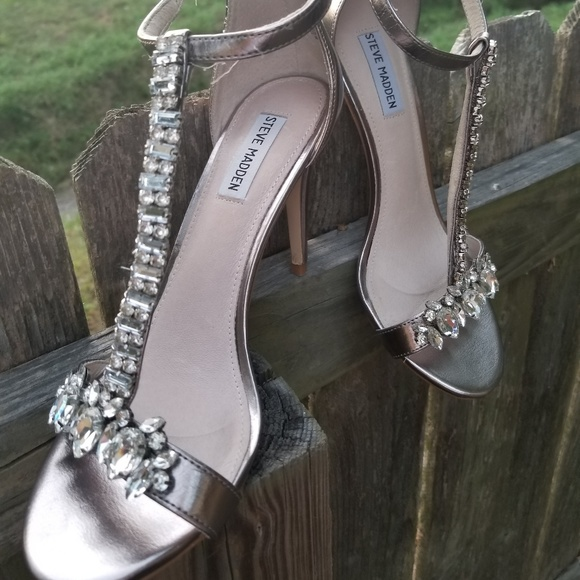 silver prom shoes open toe